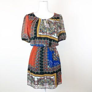 SWEET STORMS BOHO PEASANT Dress Size Small